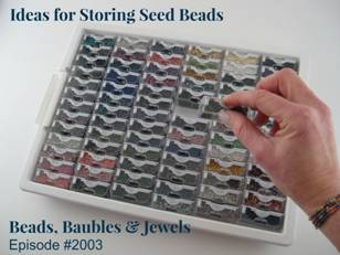 The Bead Storage Solutions® Tiny Tray has 78 tiny containers that each hold 15 grams of 11/0 seed beads. This squeezes an amazing amount of seed beads into ... & Beads Baubles u0026 Jewels
